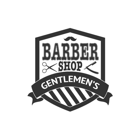 Barber shop vintage design template