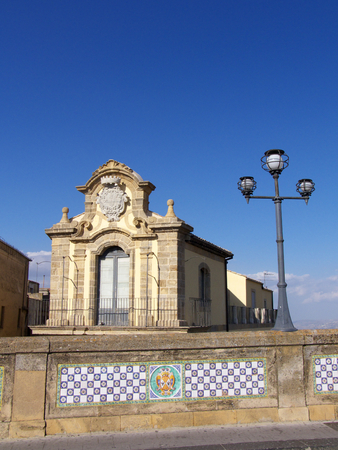 Caltagirone Palazzo Sant'Elia  Archivio Fotografico - 1659079