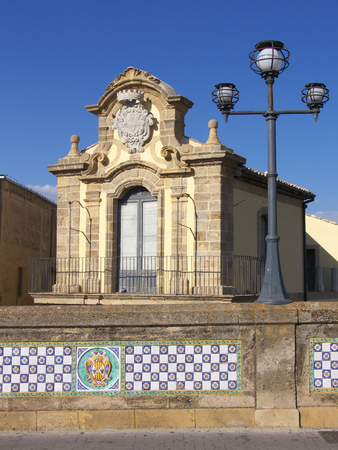 commune: Caltagirone palace SantElia Stock Photo