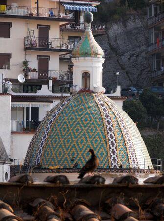 majolica: Cetara dome majolica of the Church of holy Pietro Apostle