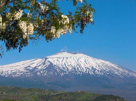 the volcano Etna  landscape
