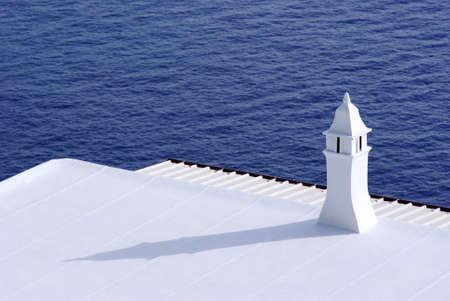 camino: camino shadow sea blue on the coast of Amalfi  Stock Photo