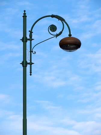 street light on the background of th blue sky photo