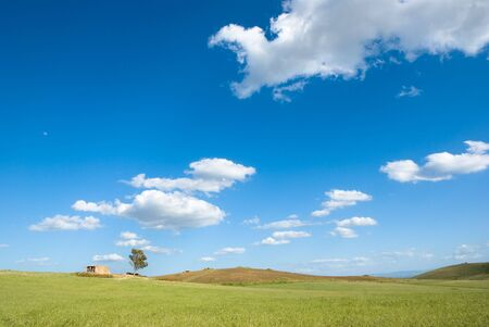 landscape for a field with a farm Stock Photo - 3368367