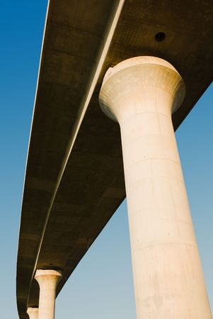 overpass: overpass on background of blue sky Stock Photo
