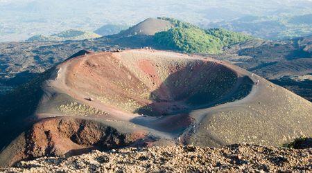 eruptive: Craters Silvestri of the volcano Etna in Sicily Stock Photo