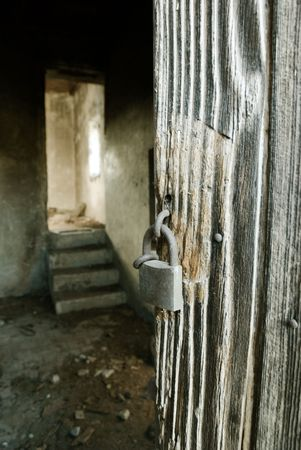 interior of abandoned