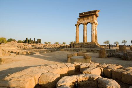 castor: doric temple Of Castor And Pollux in Agrigento