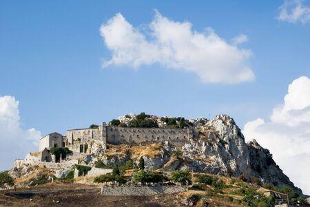caltabellotta: rock cloister saint Pellegrino at Caltabellotta Stock Photo