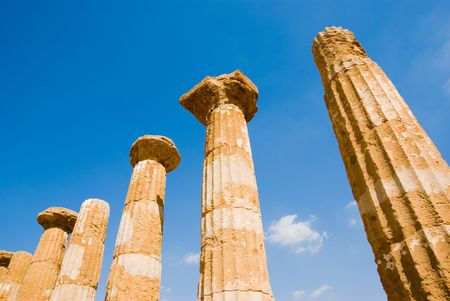 dorics columns of Valley Of Temples in Agrigento photo