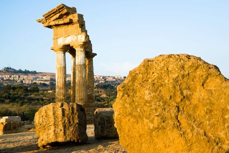 doric temple Of Castor And Pollux in Agrigento photo