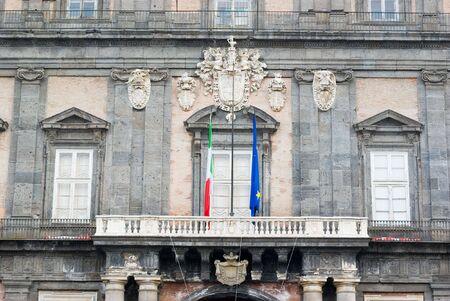 balcony of royal palace of Naples photo
