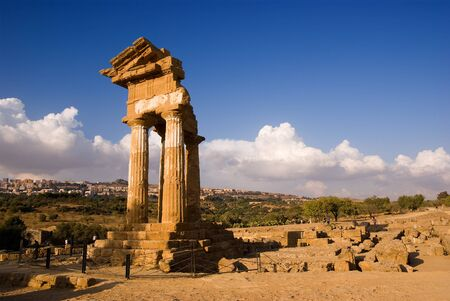 doric temple Of Castor And Pollux in Agrigento Stock Photo - 4343489