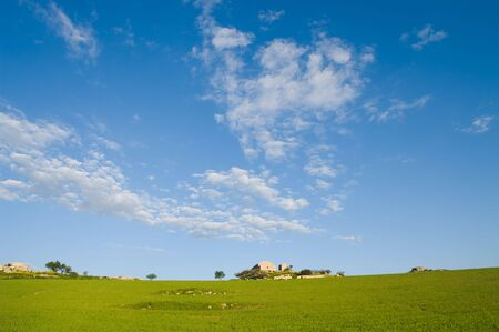 cloudscape on large rural scene Stock Photo - 4639075