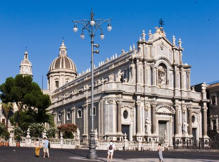 catania: cathedral of Santa Agata in Catania  Stock Photo