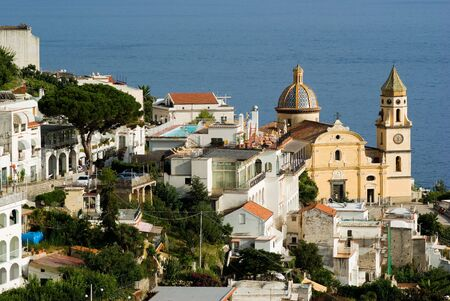 view on village of coast Amalfi; ( (Praiano-Vettica Stock Photo