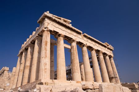 the Parthenon on Acropolis in the city of Athens Stock Photo - 5283117