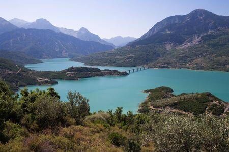karpenisi: Lake Kremasta is the largest artificial lake in Greece