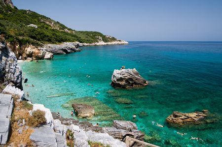 thessaly: beach of Mylopotamos - Tsagarada - one of the most beautiful beaches of Pelion, Greece