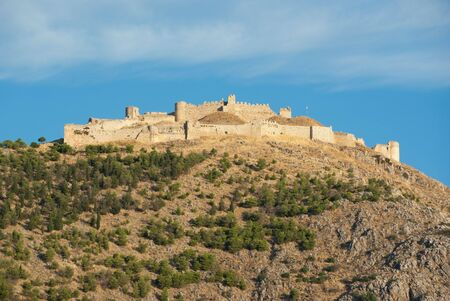 imposing: The imposing ruins of the fortress of Larissa in Argos, Greece Stock Photo