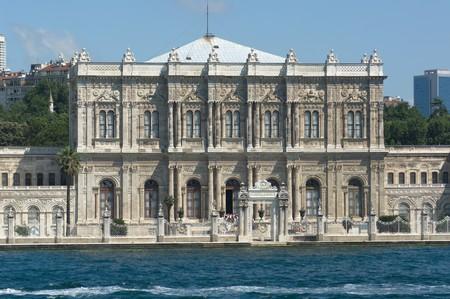 bosporus: Dolmabahce palace on the Bosporus waterfront, Istanbul
