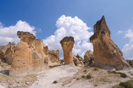 rock formation: typical rock formation in central Anatolia, Turkey  Stock Photo