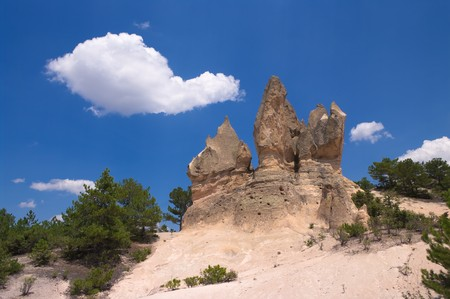 �rock formation�: typical rock formation in central Anatolia, Turkey  Stock Photo