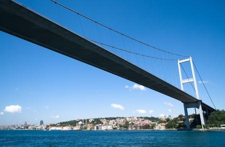 bosporus: the bridge on Bosphorus connecting the european waterside of Istanbul with the asian waterside