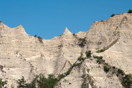 this hills of sands are typical for the district bulgarian of Melnik Stock Photo