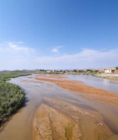 anatolia: the Kizilirmak is the longest river of Turkey, its name in turkish means the Red River Stock Photo