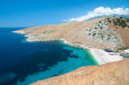 albania: the beautiful coast of southern Albania near Himare