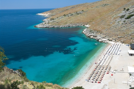 albanian: the beautiful coast of southern Albania near Himare