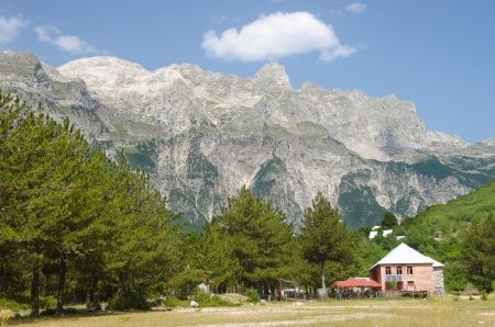 albania: mountains of Albanian Alps from Theth Valley
