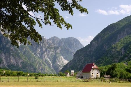 albania: farmhouse in Theth Valley, Albania
