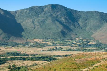 albania: beautiful landscape of Northern Albania on the border with Kosovo Stock Photo