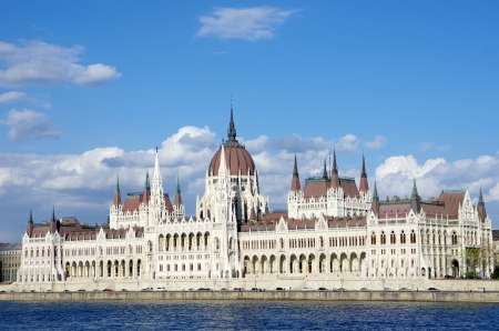 neo gothic: Budapest  the Hungarian Parliament Building was built in neo-Gothic and the main facade faces the River Danube