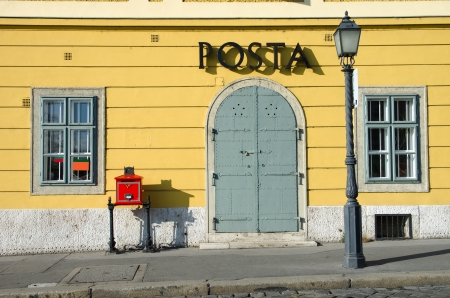 obuda: the old post office in the Buda Castle district of Budapest, famous for its Medieval, Baroque, and 19th-century houses, churches, and public buildings Editorial