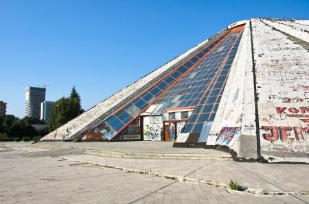 socialism: the Pyramid, ex museum Henver Hoxha, in Tirana