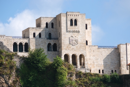 doubleheaded: National Museum Skanderbeg it was built in the famous castle of Kruja, on facade the double-headed eagle the national symbol of the Albanians