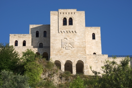 double headed: National Museum Skanderbeg it was built in the famous castle of Kruja, on facade the double-headed eagle the national symbol of the Albanians
