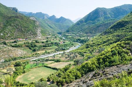 idyll: idyll valley of Kiri river from the hills of the Drisht Castle, Skhodra