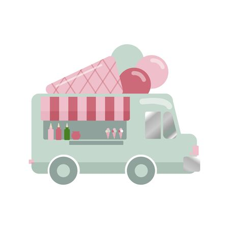 Modern Delicious Commercial Food Truck Vehicle - Hot Dog Meals