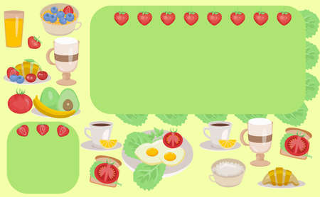template for breakfast menu with place for text
