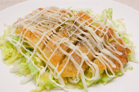 pork chop: Deep Fried Pork Chop Salad