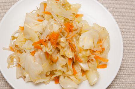 sauteed: Sauteed Seasonal Vegetable. Stock Photo