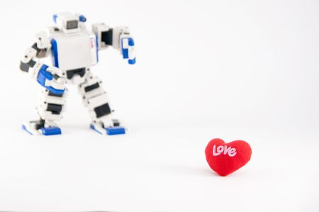 finding love: A robot finding its love.
