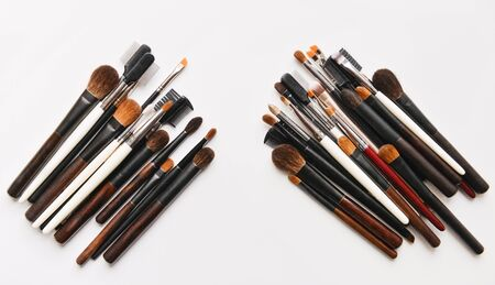 grooming product: Makeup brush on white background