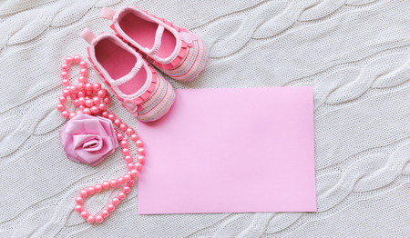 baby shoes on a white background
