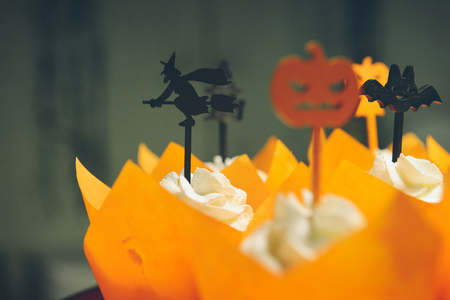 Master class Halloween decorative pumpkins made by hands