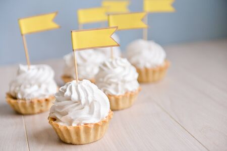decor for candy bar birthday party, cakes Stock Photo